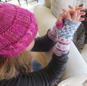 Pink mitts